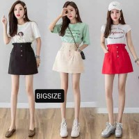 (#9857 BIGSIZE XL/XXL/XXXL)UEE Skirt/Rok pendek/Rok Mini/Rok bahan