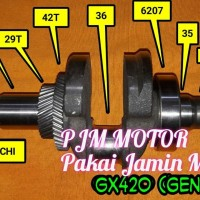 Crankshaft Kruk As Kro As Mesin Genset Gx420 6kw 7kw 6000watt 7000watt