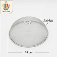 Tudung Saji Makanan Bentuk Bulat Bahan Besi Anti Lalat 28/30/35/40 Cm - 28 cm