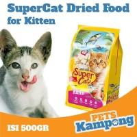Makanan kucing kecil kering Supercat Kitten 500gr