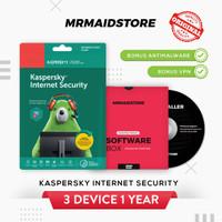 Antivirus Kaspersky Internet Security / KIS 3 PC 1 Tahun