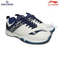 New Sepatu Badminton Lining Cloud Ace 6 / VI AYTQ055 White Navy