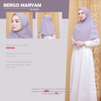 Bergo Maryam Diamond Stretch Hijab Khimar Instan Oval Tali