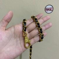 Aksesoris tas bag strap chanel chain rantai tas dengan logo