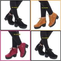 Sepatu wanita boots / sepatu high ankle boot heels terbaru berkualitas