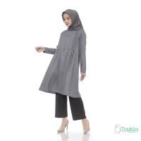 Atasan Muslim Wanita | Davira Tunik Abu | Madinah Cotton |Tazkia Hijab