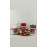 QLUX Bonnie Jar Botol Toples Selai Kaca 580cc C00137 - Putih
