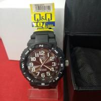 jam tangan analog pria rubber Q&Q QQ QnQ VR88J002Y