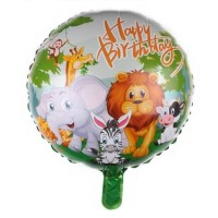 Balon Foil Bulat Forest Animal Size 45 cm