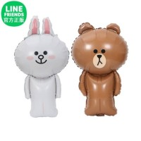 Balon Foil Line Friends Cony Brown Full Body Jumbo 78 cm