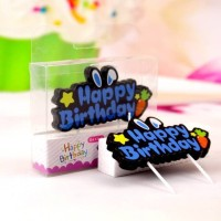 Lilin Ulang Tahun / Happy Birthday Candle Rabbit Carrot Blue