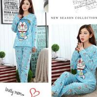 Set Baju Tidur Piyama Panjang Mickey Minnie Doraemon dll