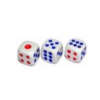 Dadu 1pcs 1biji Ukuran 1cm 10mm Dice Board Game Uno