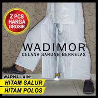 Celana Sarung Dewasa, Aseli dari Wadimor, Beli 2pcs Harga Grosir - PUTIH SALUR
