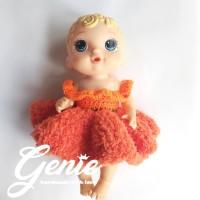 Baju boneka baby alive / party fluppy gown