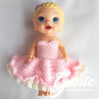Baju boneka baby alive / jumpsuit gown princess