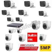 PAKET CCTV HIKVISION 16CH 5MP UHD BUILT IN MIC HDD 2TB LENGKAP