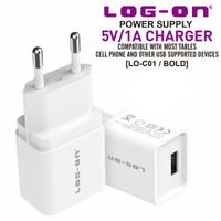 Log On Adaptor Charger 1USB 1A BOLD LO-C01