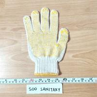 Sarung Tangan Katun Bintil - Safety Glove Proyek