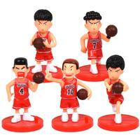 Figure Set 5 pcs Slam Dunk Basket Shohoku Red Jersey