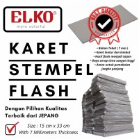 Karet Stempel Flash 15 cm X 33 cm Tebal 7 mm - BEST QUALITY