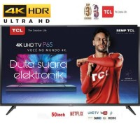 LED TV TCL 50 INCH 50P65US SMART TV 4K Garansi Resmi