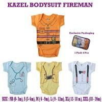 KAZEL bodysuit baby / baju bayi boy - Firemen size L