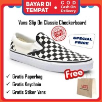 Sepatu vans checkerboard slip on classic original vans catur murah
