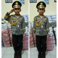Baju/kostum/stelan profesi polisi jendral anak2 size 1-4 (tk )