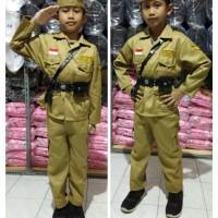 Baju/kostum/stelan Pejuang 45 anak2 size 1-4 (tk)
