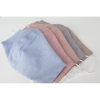 Masker Kain Katun 3 PLY Stretch Cotton Linen Tuton Earloop