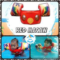 Pelampung Renang Baju Tangan Lengan Rompi Anak Puddle Jumper - Red Macaw