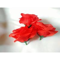 Kelopak Bunga Mawar Plastik Kuntum Artificial Bunga Plastik Rose Petal