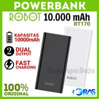 POWERBANK ROBOT 10000 mAh RT170 Power Bank 10.000mah 2 Dual Output USB
