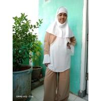 Baju Muslim Anak Perempuan 11 - 12 Tahun Setelan Celana