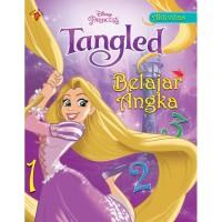 Buku aktivitas PAUD TK Belajar angka belajar huruf Disney Tangled