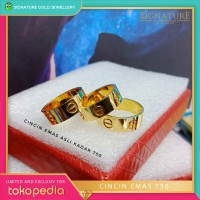 Cincin Emas Kuning Model Ring Cartier. 0297