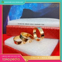 Cincin Emas Rosegold Model Ring Cartier. 0481