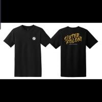 Skuter Koloni Tshirt Gravity Edition Vespa Black kaos