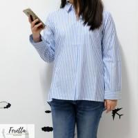 Striped Shirt Female | Kemeja Motif Garis-Garis | Baju Atasan Wanita
