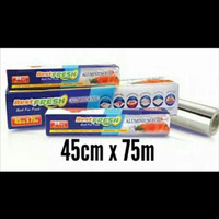 ALUMINIUM FOIL ROLL BEST FRESH BEST FOR FOOD 45CM X 7,6M - 45 CM X 7.6