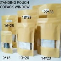 POUCH ECOPACK WINDOW 750 Z -16 x 25,5CM - STANDING POUCH WINDOW ECOPAC