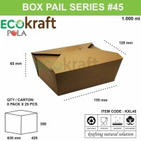 BOX PAIL KRAFT MEDIUM - KOTAK NASI PAIL COKLAT - ISI 25PCS