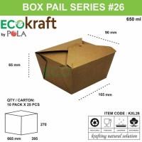 BOX PAIL KRAFT SMALL - KOTAK NASI PAIL COKLAT - ISI 25PCS