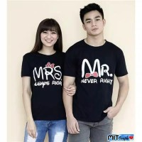 KAOS BAJU COUPLE MR RIGHT