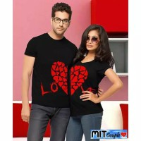 KAOS BAJU COUPLE OB RED LOVE