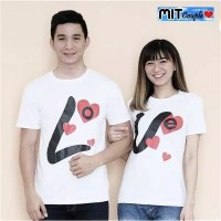 KAOS BAJU COUPLE OB LV LOVE