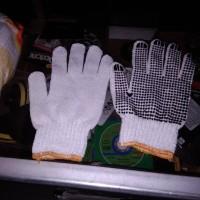 1 pasang Sarung tangan kain tebal alas telapak karet