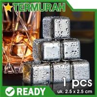 Food Grade Es Batu Stainless Steel ice cube cubes reusable pakai ulang