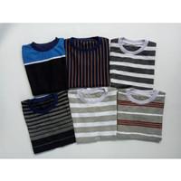 Kaos Anak Harian Salur Oblong Size M 2-3 Tahun Baju Murah